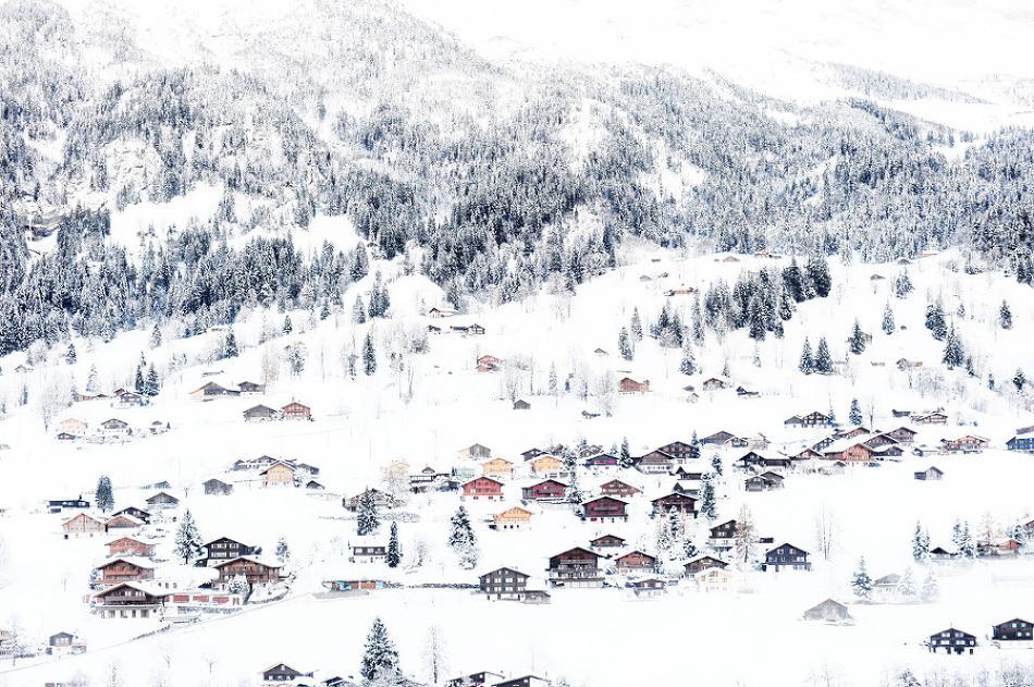 눈내리는 마을