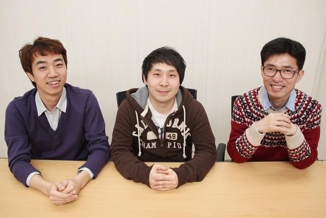 좌측부터 개발자 김도균님, 개발자 최재성님, 개발자 이민재님
