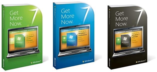상위 버전의 윈도우 7으로 업그레이드 하기