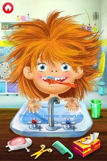 Pepi Bath 아이폰 아이패드 어린이 목욕 이닦기 교육