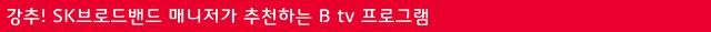 SK브로드밴트 매니저가 추천하는 Btv프로그램