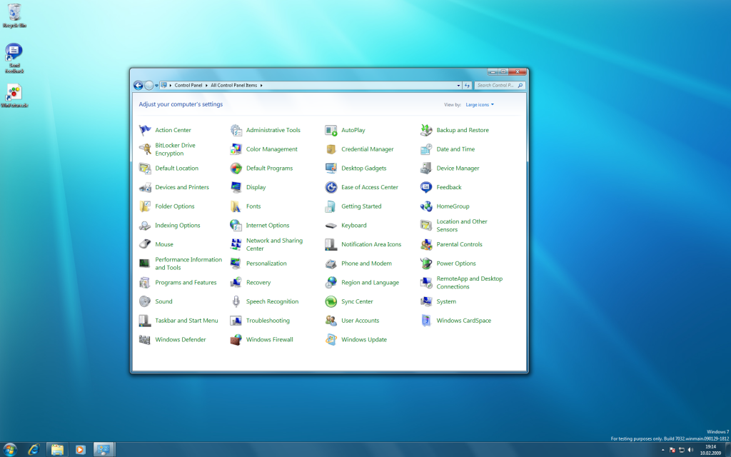 16 Windows 7 Build 7032 Screenshots