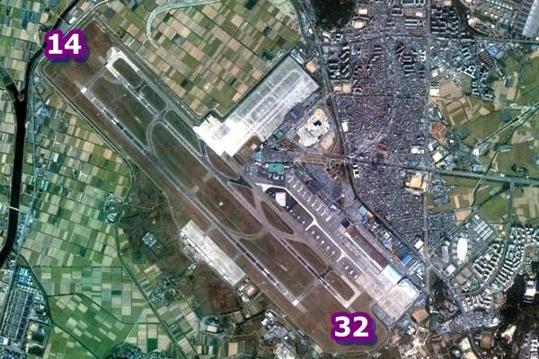 김포공항 활주로 방향