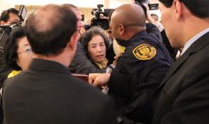 제네바 유엔 유럽본부 인권이사회 회의장에서 발생한 '남북 간 충돌'