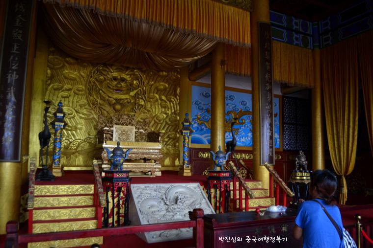 ▲ 용정대전(龙亭大殿)의 내부