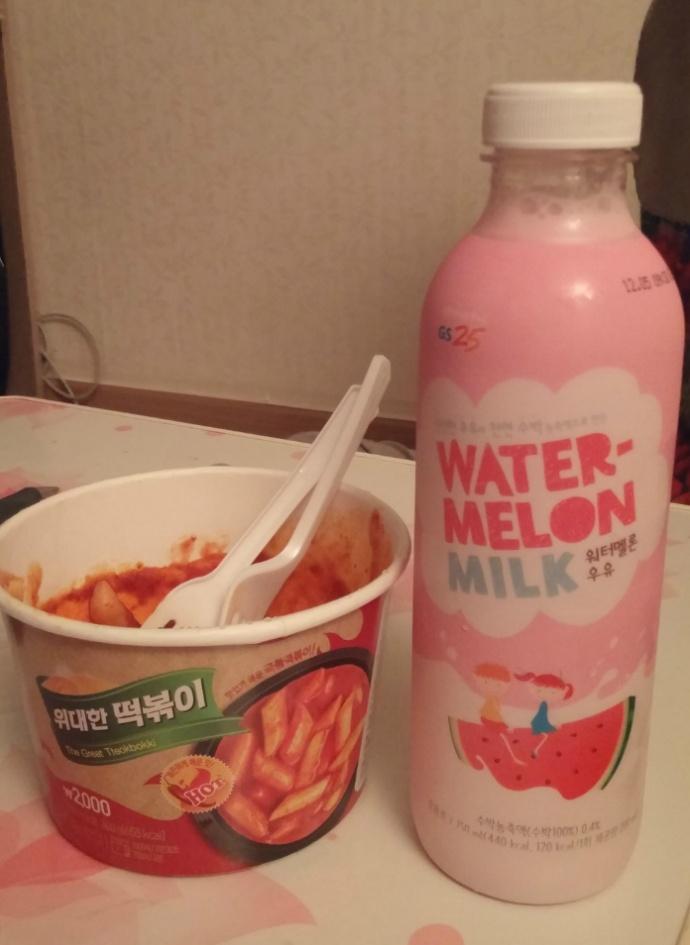 2015.11.28., 20151128, gs, GS 편의점, milk, Olleh, Water Melon, [GS]