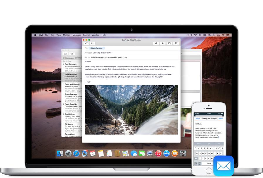 iOS8 요세미티 Handoff