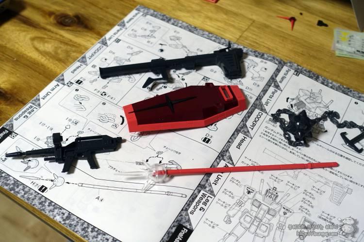 3배, 퍼스트건담, MG, RX-78/CA, rx-78, ca, 캐스발전용기, 무기, 무장