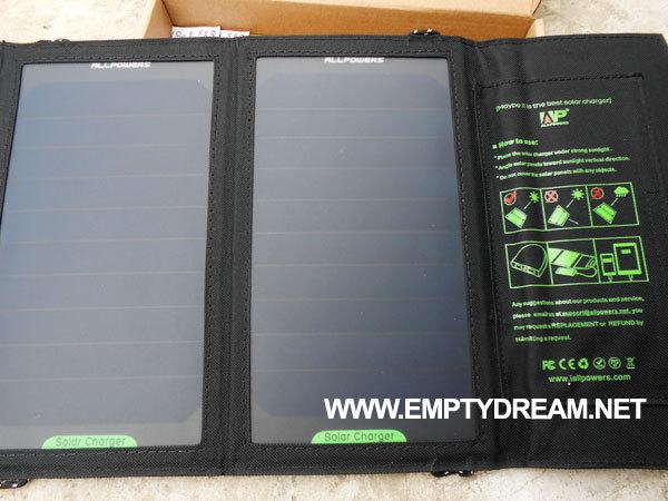태양광 충전기 구입 & 개봉 & 테스트 결과 (AP 5V 10W)