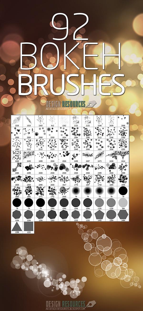 92 가지 보케(bokeh) 포토샵 브러쉬 - 92 Free Bokeh Photoshop Brushes