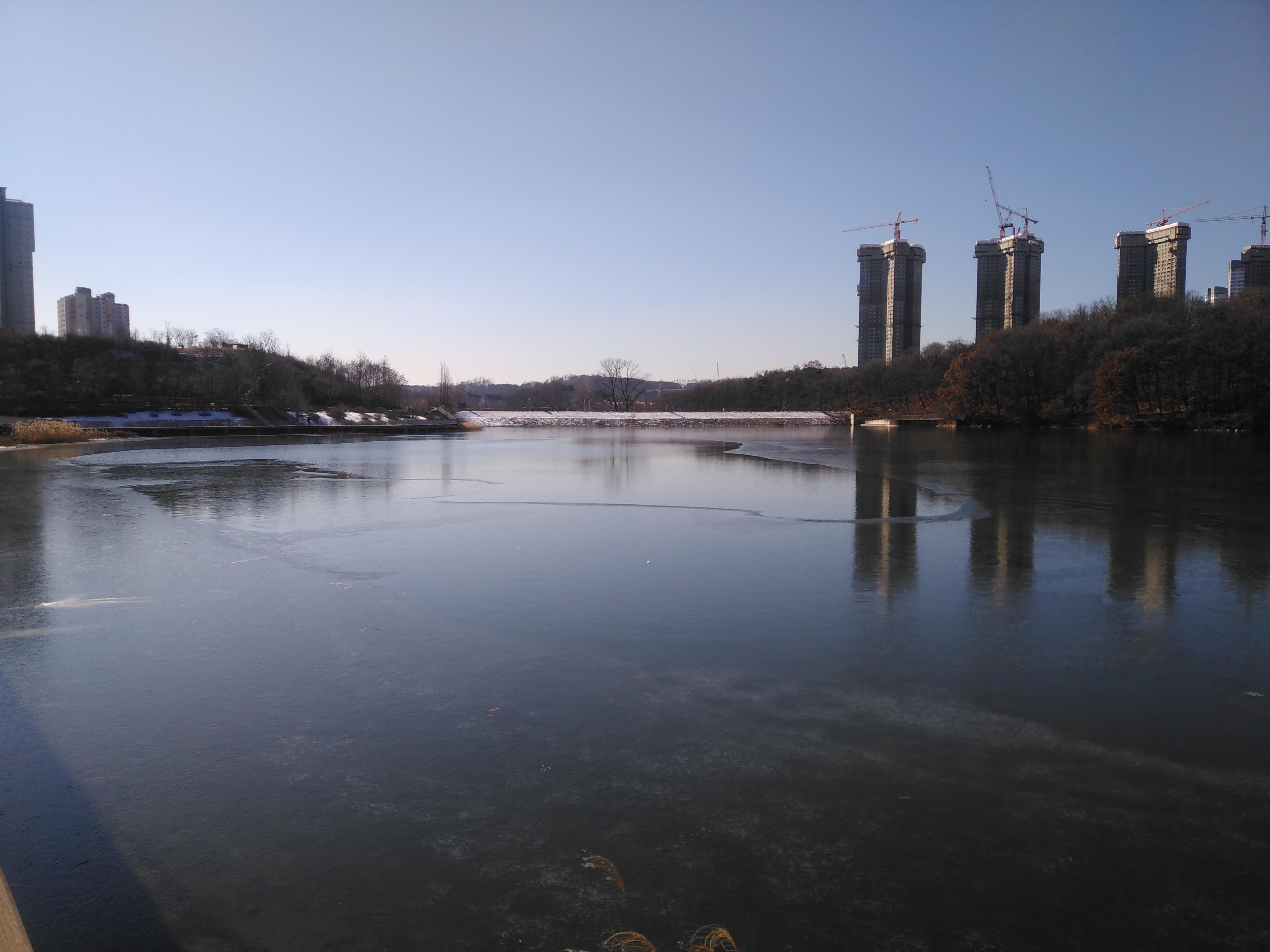 신대호수의 물