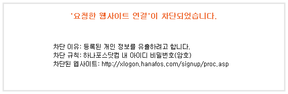 V3 플레티넘 개인정보 유출차단 요청한 웹사이트 연결 차단