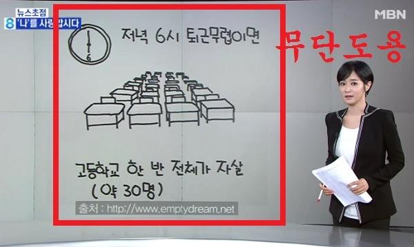 MBN 뉴스, 주하의 9월 9일 뉴스초점 - '나'를 사랑합시다 웹툰 무단도용 화면