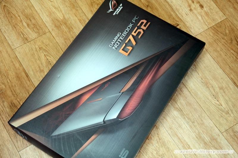 크고 강렬한 게이밍 노트북 에이수스 G752VM