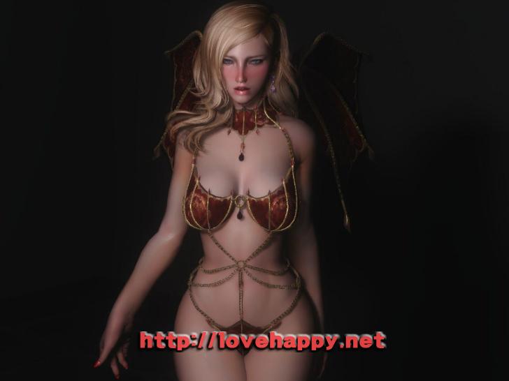 스카이림 의상 - 서큐버스 의상 vampire vanilla armor tbbp skyrim mod 003