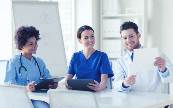 Free Stock Photo JPG file Group of happy doctors at hospital Stock Photo 05