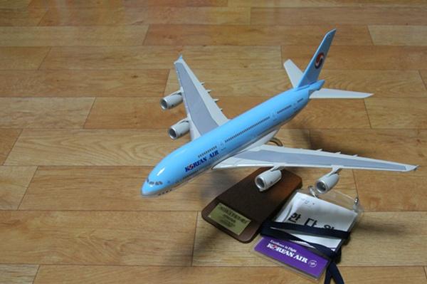 다원이가 기념품으로 받아 온 A380 항공기 모델