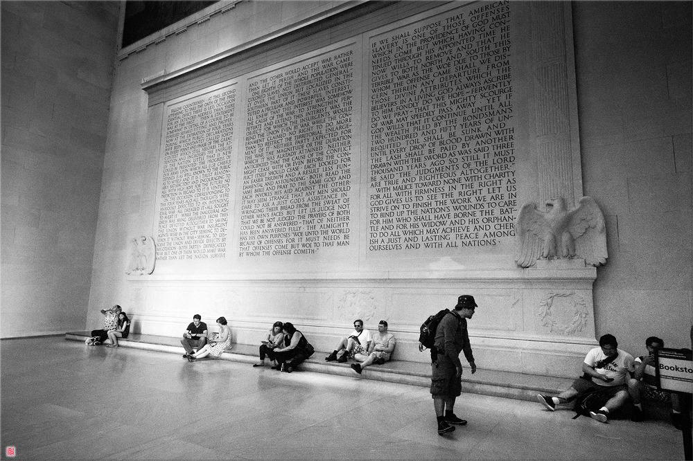 [워싱턴DC] 링컨 기념관에서....