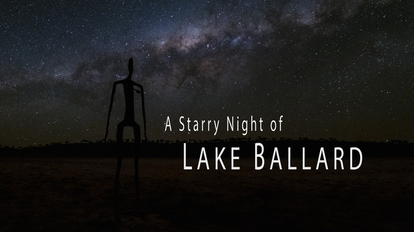 Lake Ballard의 별이 있는 밤