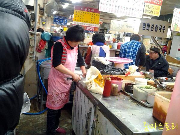 맛집, 동래시장, 칼국수, 자매식당