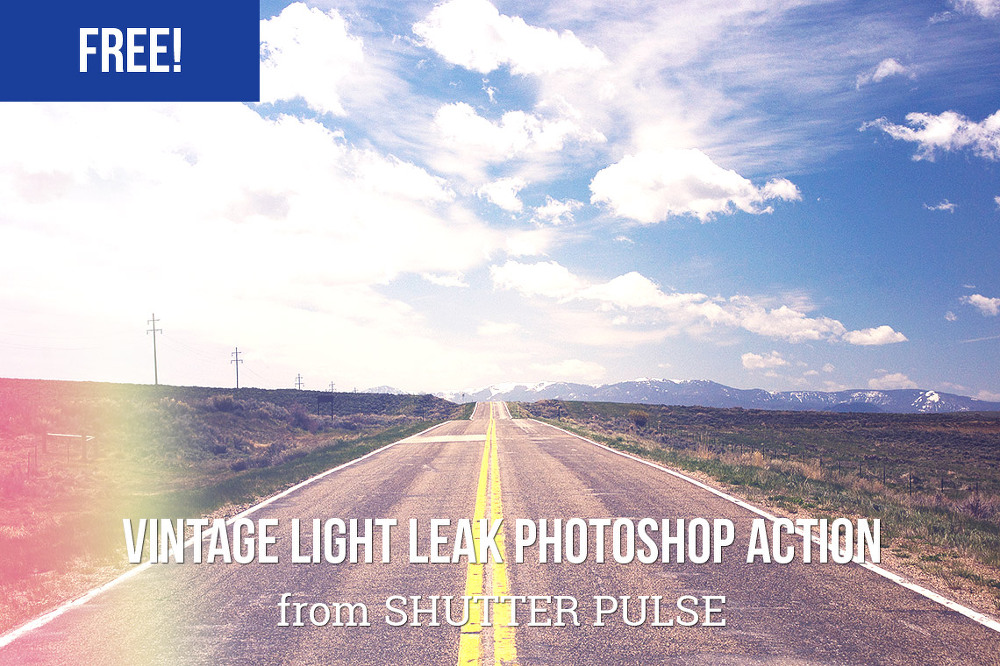 빈티지 느낌에 빛이 새들어온(vintage light leak) 효과를 더한 포토샵 액션 - Free Vintage Light Leak Photoshop Action