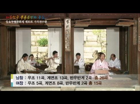 중요무형문화재 제30호 가곡 홍보 영상