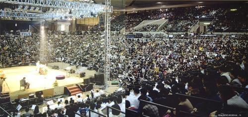 ▲ 올림픽역도경기장 전도집회