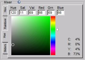 색상혼합 테이블 Hue
