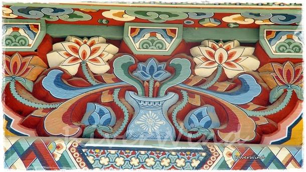 사찰에서 보는 오래된 문양