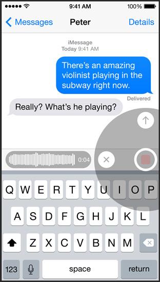 iOS8 문자