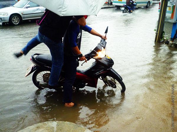 운이 정말 좋으면 홍수를 피해서 이동한 다른 마을에서 또 다른 홍수를 만날 수 있다.