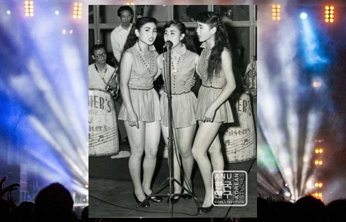 사진: 어린 시절부터 가수활동을 시작한 김시스터즈는 저고리시스터즈의 이난영이 기획한 여성 트리오였다. [김시스터즈, 한류스타 원조걸그룹 - 저고리시스터즈의 다방의 푸른 꿈]