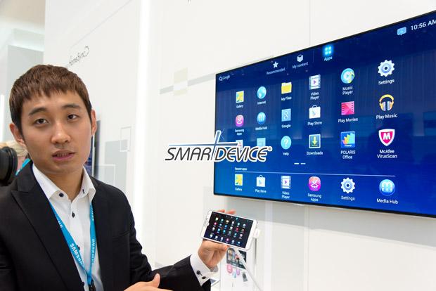 IFA 2013, 삼성전자, 홈싱크, Home Sync, MWC 2013, TV, 가정용 데이터 저장장치, TV 연결, 안드로이드, 구글 플레이, 미라캐스트, 미러링, 에어제스쳐, 삼성링크