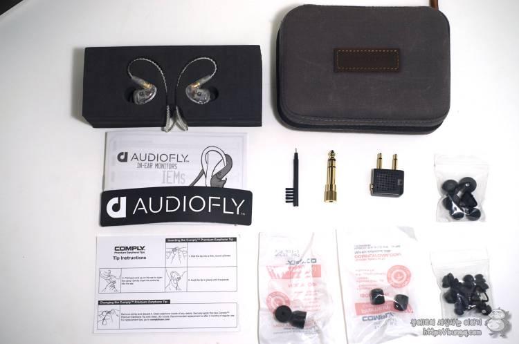 오디오플라이, audiofly, inear, 인이어, 이어폰, 프리미엄, 모니터링, 구성품, 패키지, 디자인