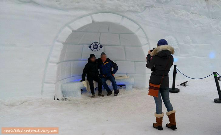 캐나다 겨울 축제 오타와 윈터루드 winterlude 이글루