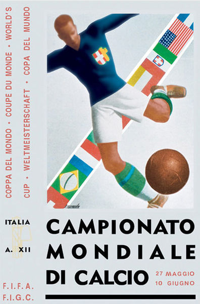 1934 Italy World Cup poster