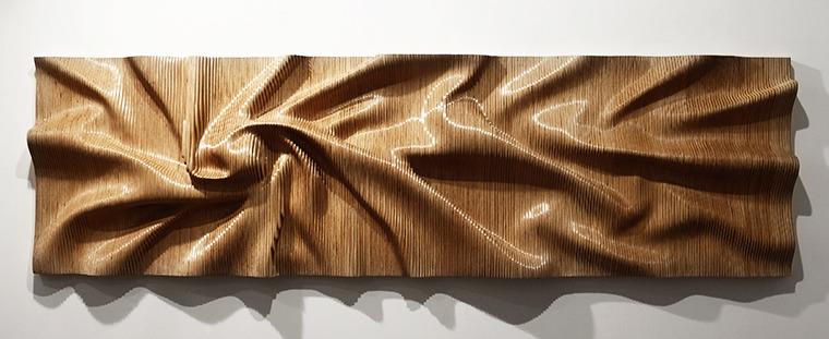 차종례 作, <드러내기 드러나기>, 2017년, 흰 자작나무, 60x182x20 cm