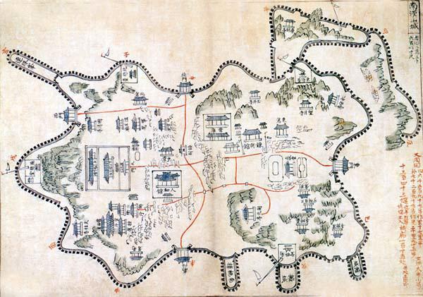 남한산성도 영남대박물관소장
