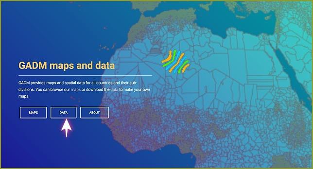 gadm 지리적 데이터 다운로드