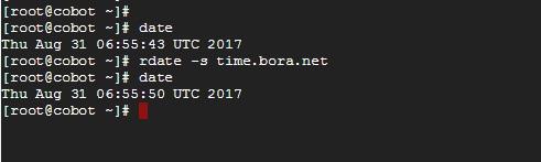 rdate -s time.bora.net