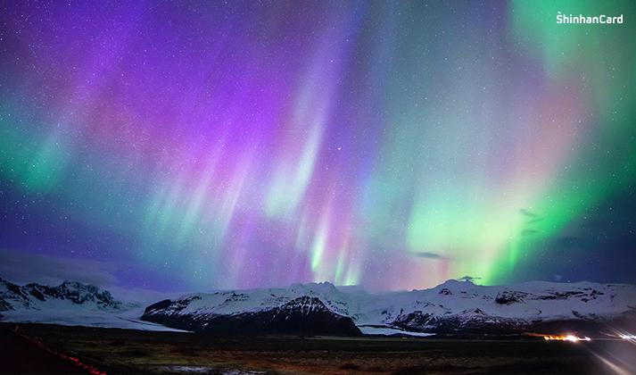 아이슬란드 전역 오로라