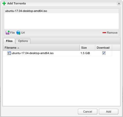 Openmediavault 토렌트 파일 다운로드