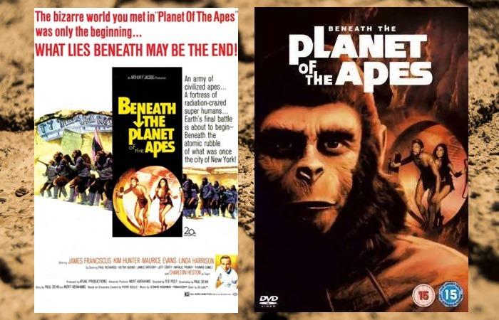 사진: 혹성탈출2편의 포스터. 광속으로 우주여행을 떠난 테일러를 찾기 위해 브랜트가 따라 나섰다가 미래의 지구에 불시착한다는 내용이다. [혹성탈출 시리즈 - 혹성탈출2의 줄거리와 결말]