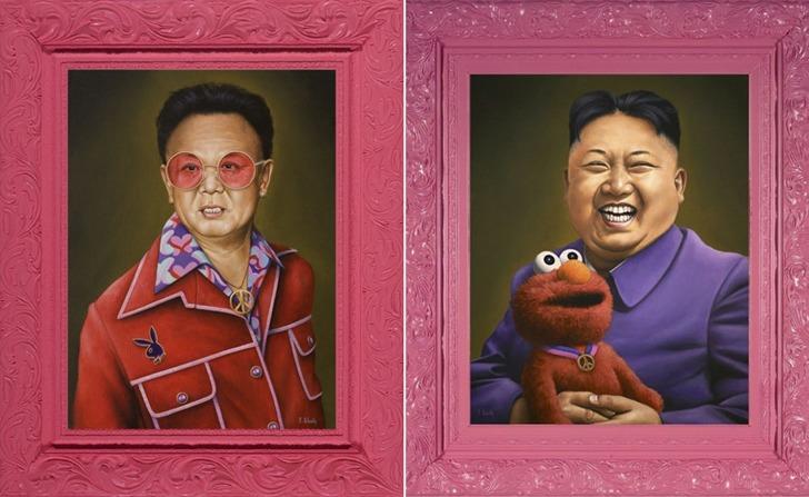 김정일, 김정은 부자도 귀엽게 만드는 핑크의 마력