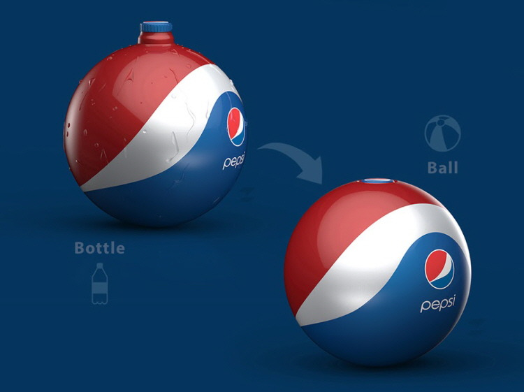 Pepsi Rubber Ball Bottle, concept design