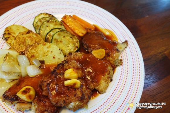 집에서 간단한 손님초대 요리 '치킨스테이크 만들기'