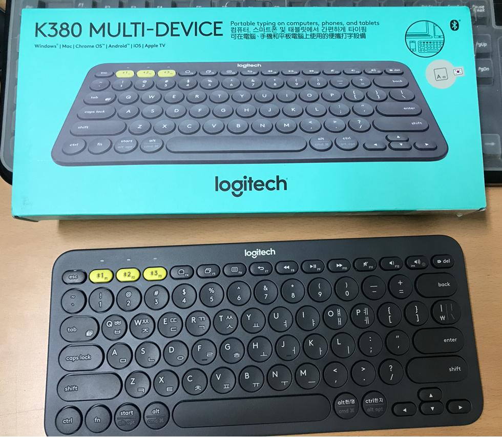 [블루투스 키보드] Logitech K380 Multi-Device 블루투스 키보드 사용