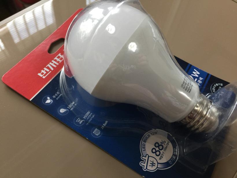 금호전기 번개표 LED 전구 12W 사진