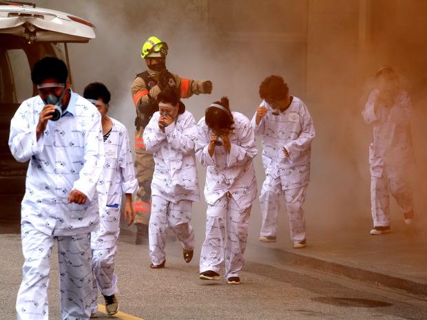 강남구, 세브란스병원에서 대형화재 대응훈련 실시