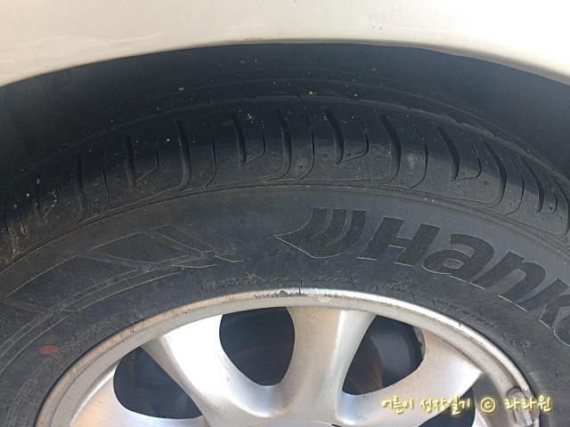 타이어 트레드 확인 방법